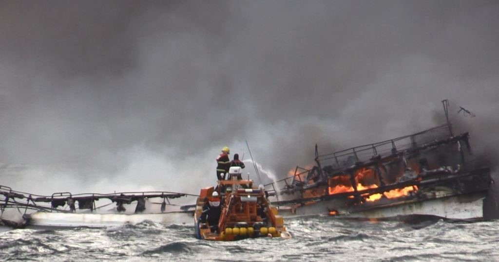 Hàn Quốc triển khai tích cực công tác tìm kiếm các thuyền viên mất tích trong vụ cháy tàu cá
